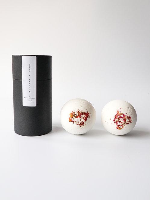 Rose & Vanilla  - Herbal Bath Bombs
