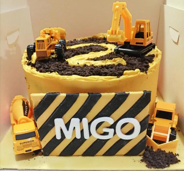 A Digger site Cake