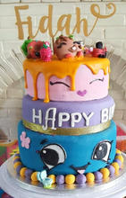 3 Tier Shopkins Cake