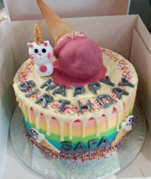 Ice cream, Rainbow Cake