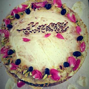 A Rustic Birthday cake