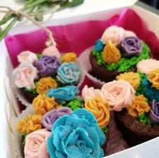 Potted Flower Cupcakes