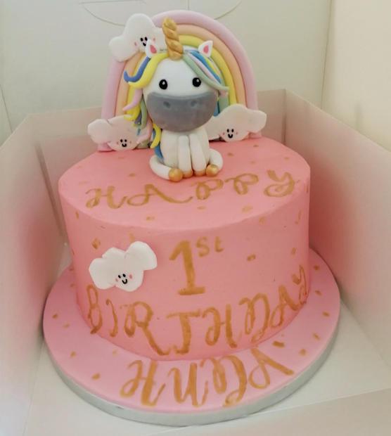 Rainbow, Unicorn Cake