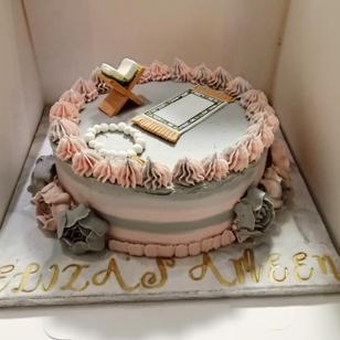 Religious ceremony cake