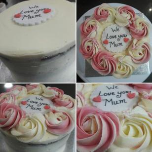 2 Toned Rossette cake