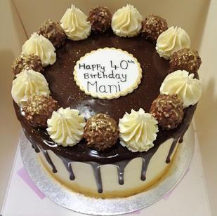 Ferrero rocher chocolate drip cake