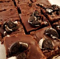 Chocolate, White Chocolate, Oreo Brownies