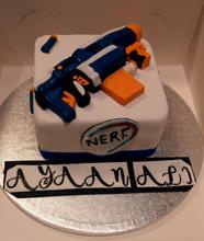 Nerf Gun Marble Cake