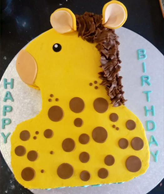 Number 1 Giraffe Cake