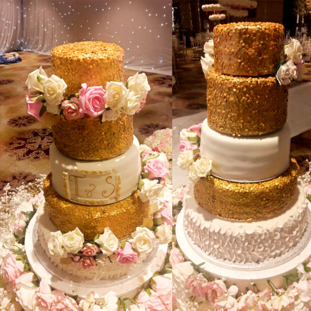 5 tier Wedding Cake -