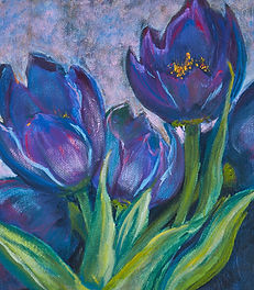 Print Purple Tulips - nanci miranda