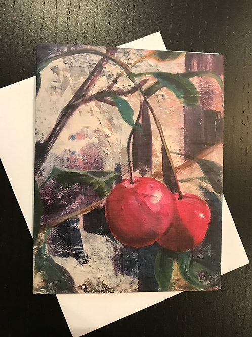 Greeting Card Blank WinterPlums