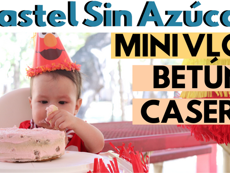PASTEL SIN AZÚCAR PARA BEBES DE PLÁTANO | Mini Vlog Betún Casero