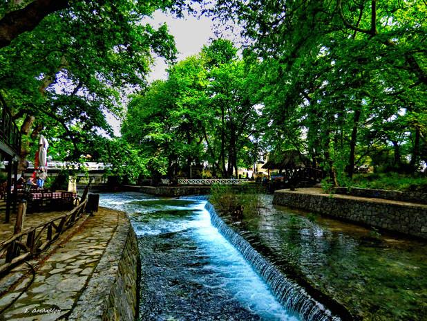 Fresh water is running everywhere around Vryses