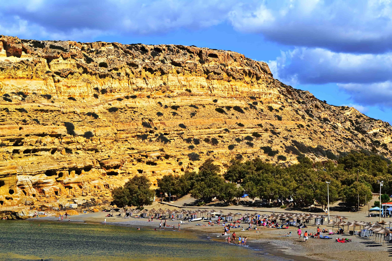 The beach of Matala
