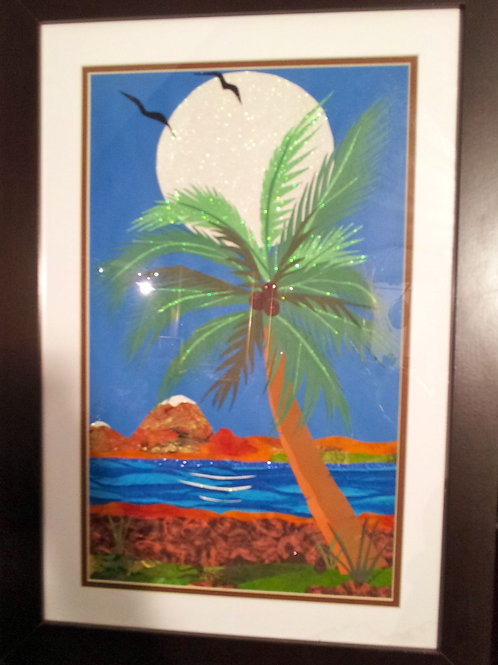 Tropical Moon Hanging Art