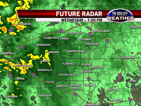 Rain & Storms Return By Wednesday
