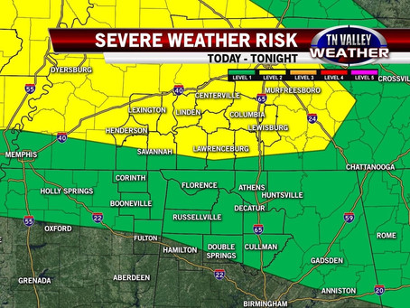 Monday PM Storms Could Be Severe
