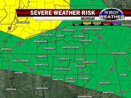 More Strong To Severe Storms On Monday
