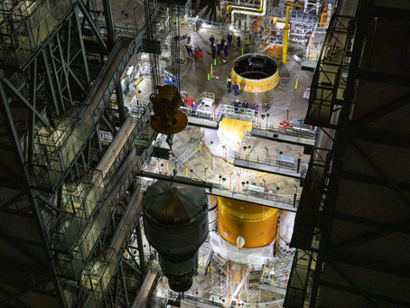 NASA's Artemis 1 Rocket Continues To Take Shape