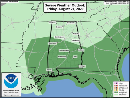 Severe Storms Chances Decrease For Friday