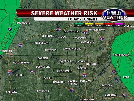 Lower Severe Storm Risk Expected Today