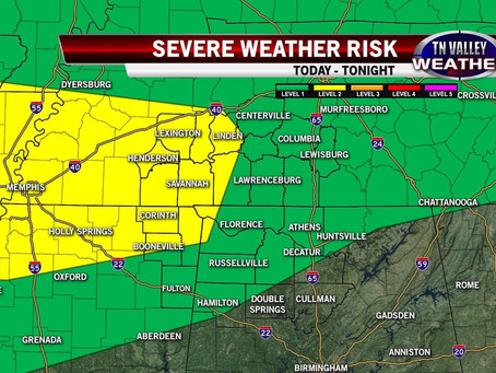 Severe Weather Chances Increasing Today