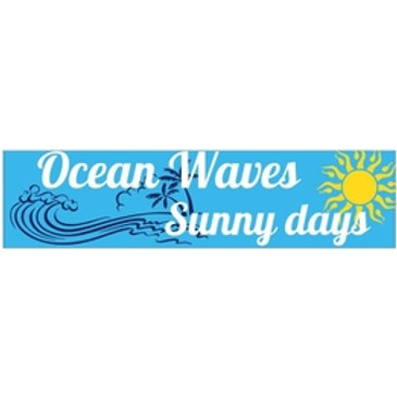 Ocean Waves, Sunny Days 7 x 3 Bumper Sticker Decal
