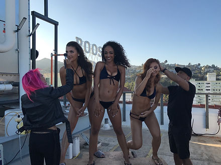 LA Charger Girls Calendar Cover Shoot