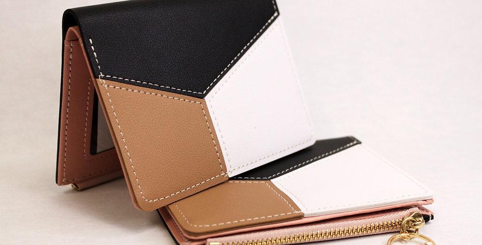 Black & Brown Faux Leather Wallet