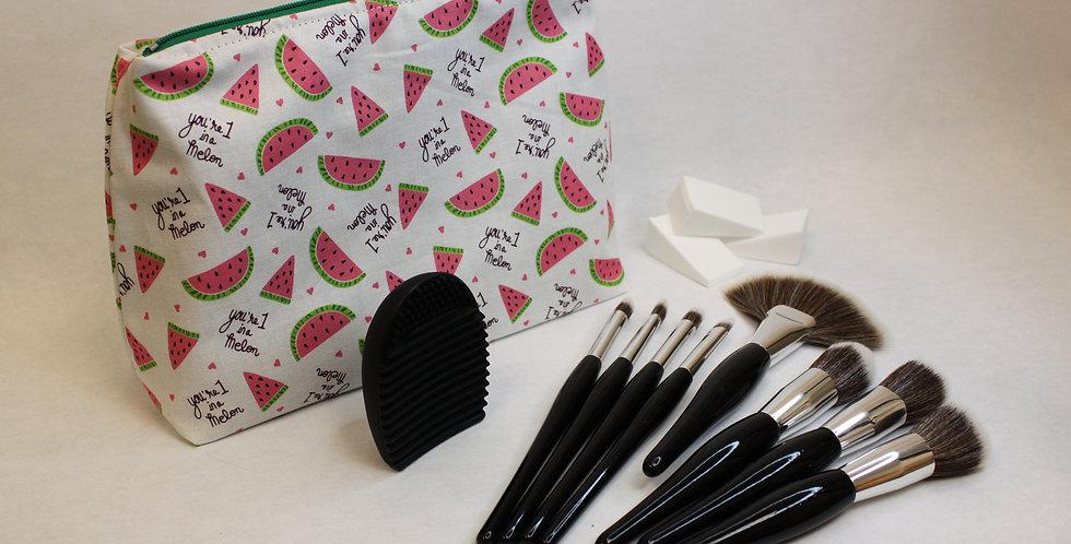 Watermelon Makeup Bag Brush Set