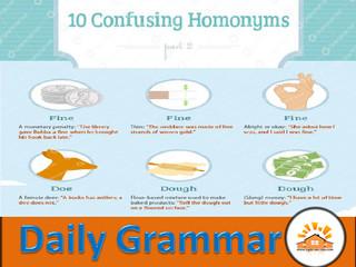 Homonyms - Part 10