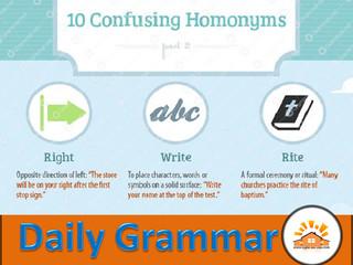Homonyms - Part 8
