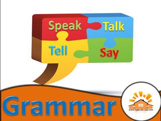 Qual a diferença entre speak, talk, tell e say?
