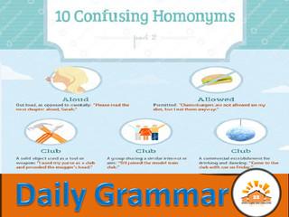Homonyms - Part 7
