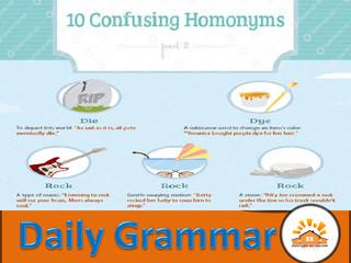 Homonyms - Part 11