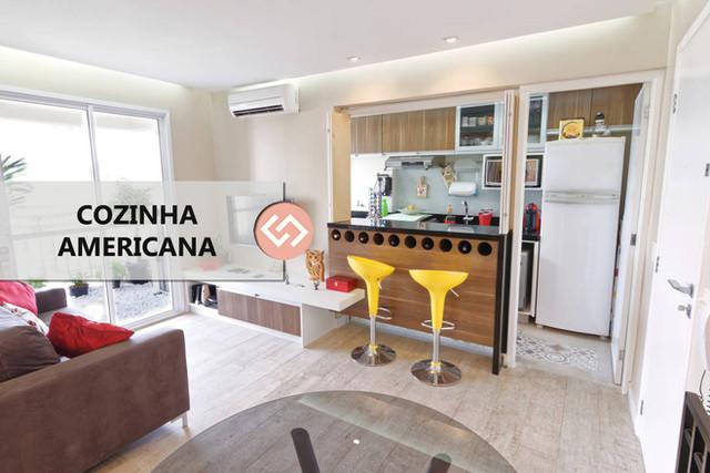Cozinha Americana para espaços pequenos