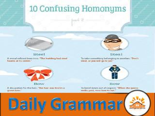 Homonyms - Part 6