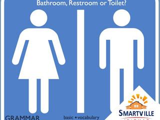 Qual a diferença entre bathroom, restroom e toilet?