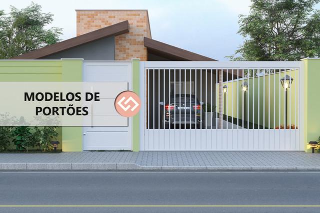 Modelos de Portões para a Fachada de sua Casa