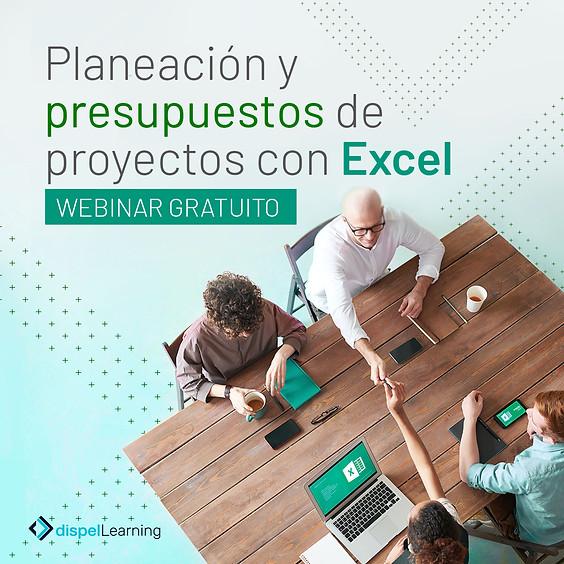 GRATIS: Webinar: Planeación y presupuestos de proyectos con Excel