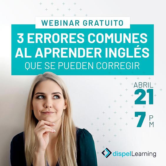 WEBINAR GRATUITO: 3 errores comunes al aprender inglés