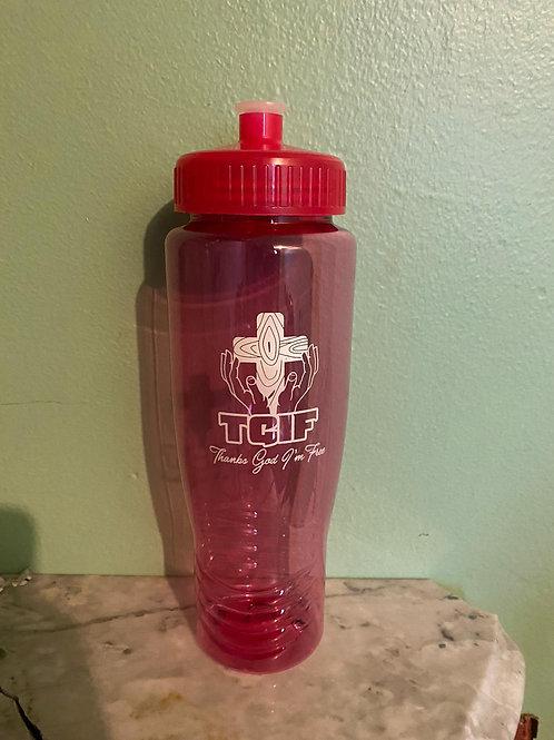 TGIF Water Bottle - Red