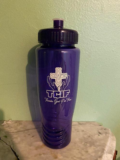 TGIF Water Bottle - Purple