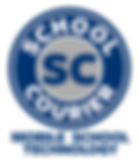 School Courier Logo with Mobile Technolo