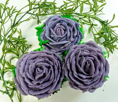 Purple floral cupcake trio.jpg