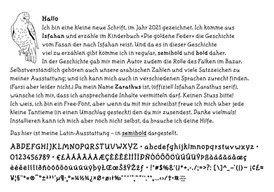 Zarathus Fontgestaltung