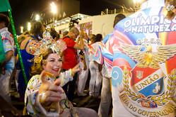 Georgette Vidor participa do desfile na União da Ilha