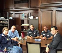 Georgette Vidor se reúne com secretário de Segurança Pública