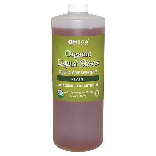 Plain Liquid Stevia (32 fl oz) - Omica Organics